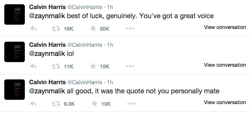 Tweets De Calvin Harris
